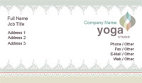 Pastel Yoga Business Card Template
